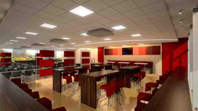 3D Visualisierung Architektur Innenvisualisierung Gastronomie Kantine
