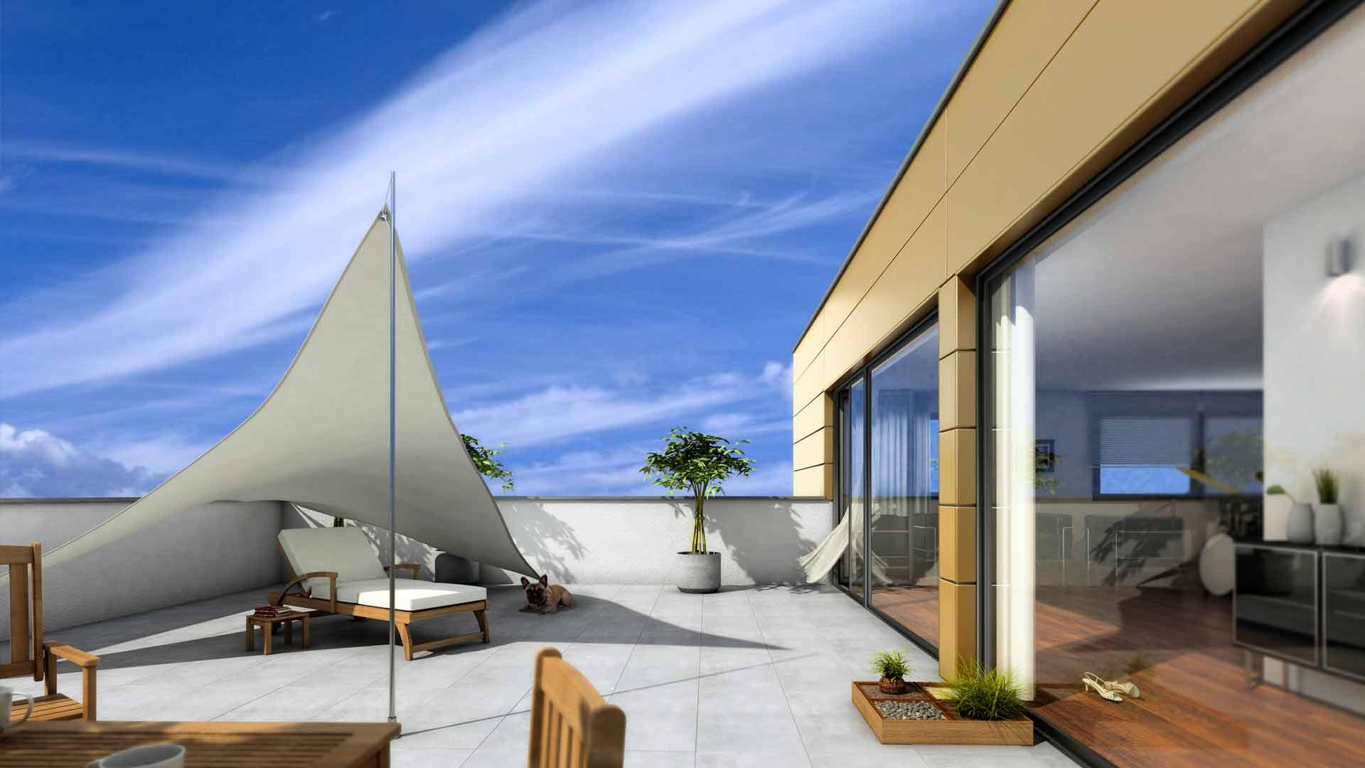 3D Visualisierungen Architektur Penthousewohnungen Koeln Holunderweg