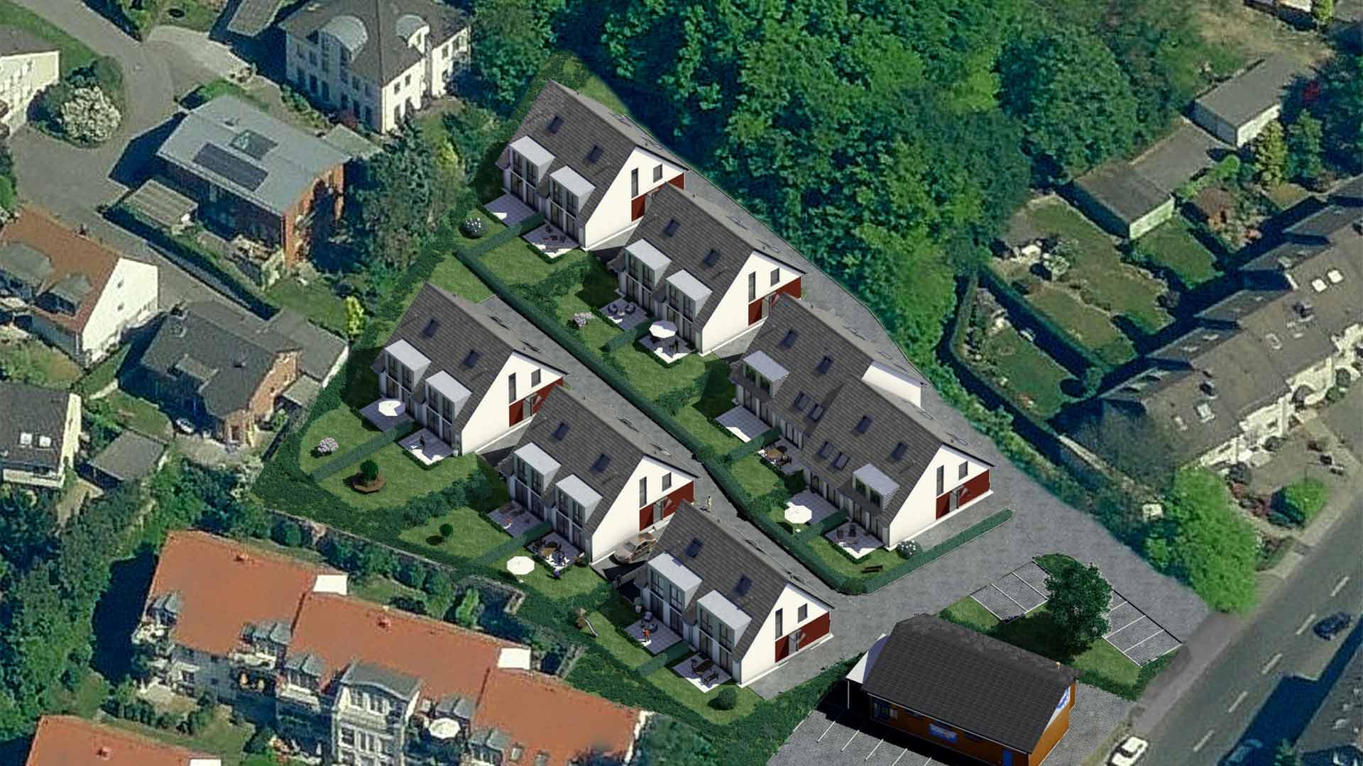 3D-Visualisierungen-Architektur-Vogelperspektive-Doppelhaushaelften-Wuppertal-Erbschloeerstrasse