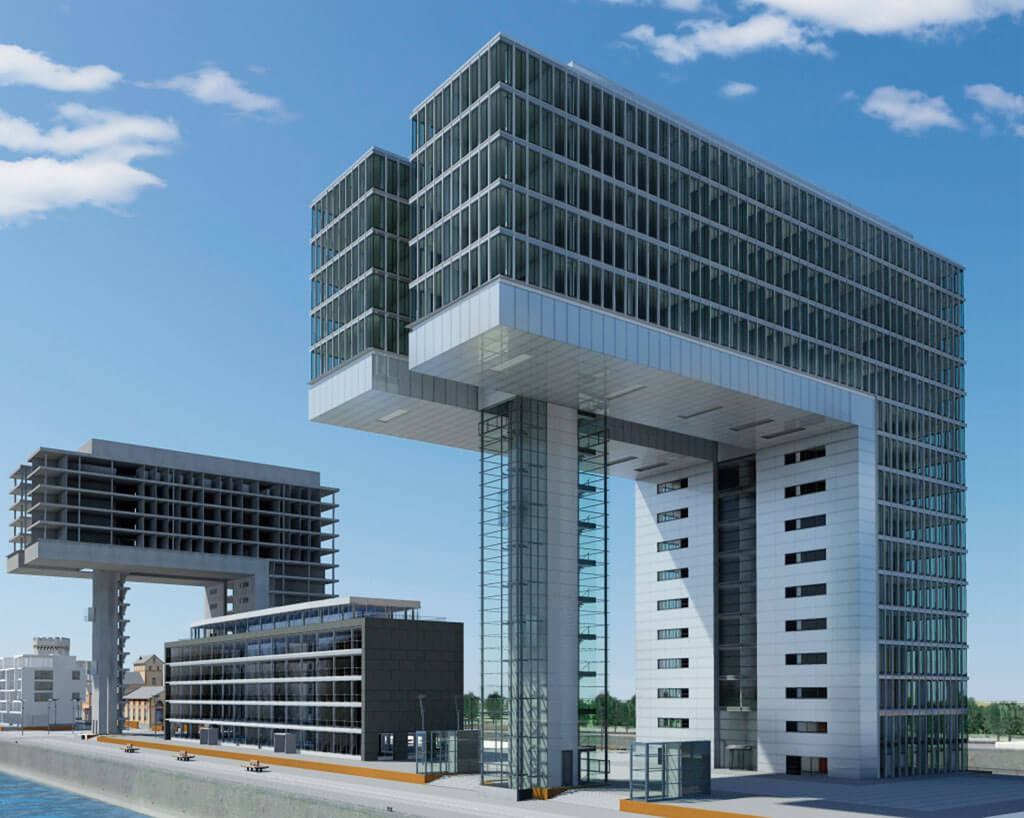 3D Visualisierung Exterior Kranhaus Köln