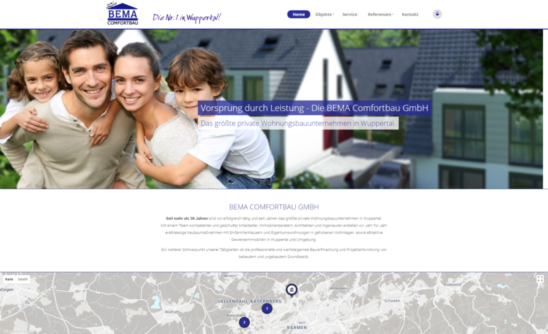 Website Immobilien Bema Comfortbau