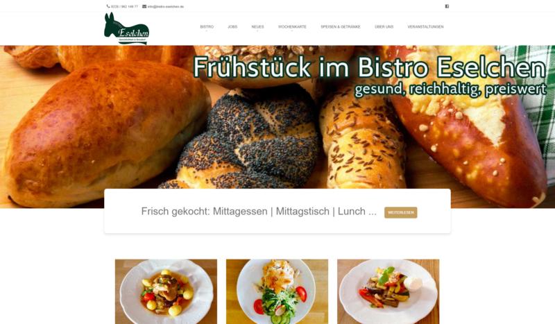 Website Gastronomie Bistro Eselchen
