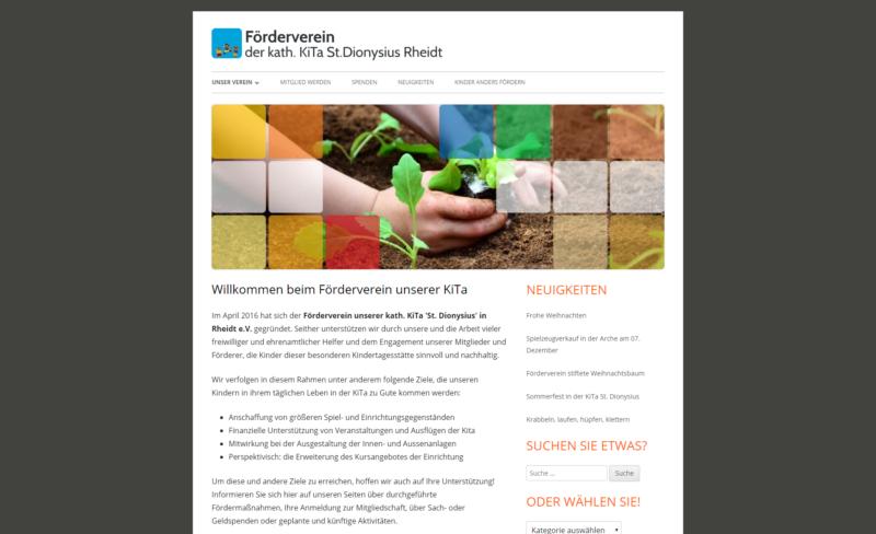 Website Organisation Förderverein